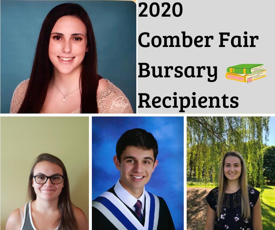 2020 Comber Fair Bursary Recipients